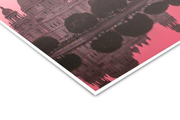 poster print mat closeup corner