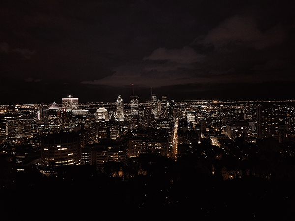 Nightime photo Montreal