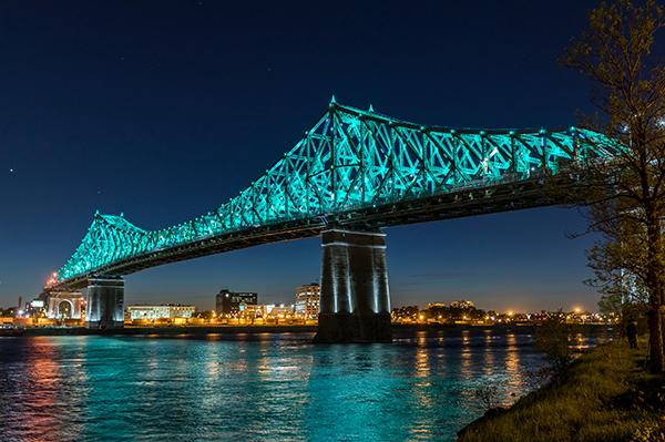 Jacques cartier bridge illuminated