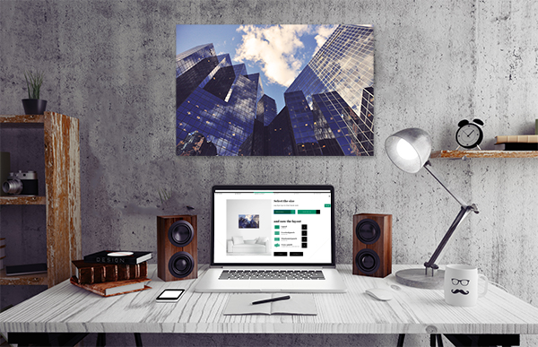 canvas print in office space